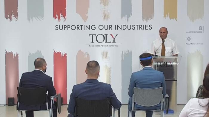 Minister for the Economy, Investment and Small Businesses Silvio Schembri visitsTolys manufacturing plantin Malta