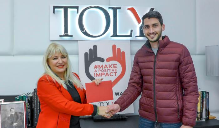 Toly Makes a Positive Impact this Valentines Day.